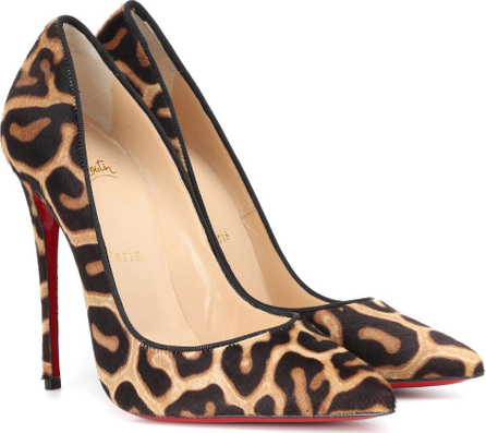 Christian Louboutin So Kate 120 calf hair pumps