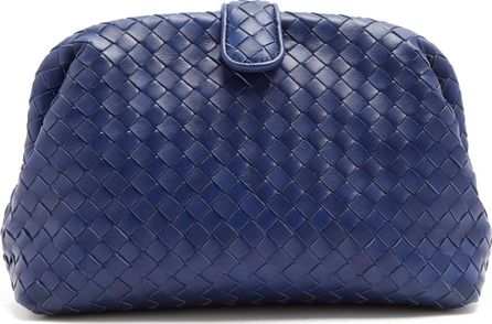 Bottega Veneta Lauren intrecciato-leather clutch