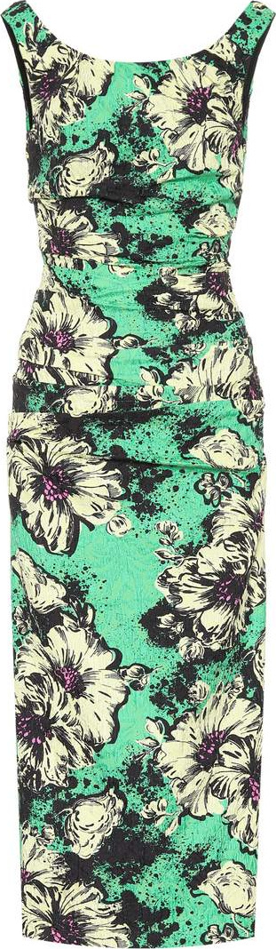 Miu Miu Floral cloqué dress