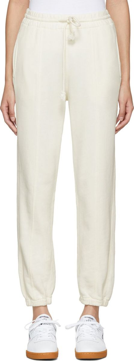 Helmut Lang Off-White Seamed Lounge Pants