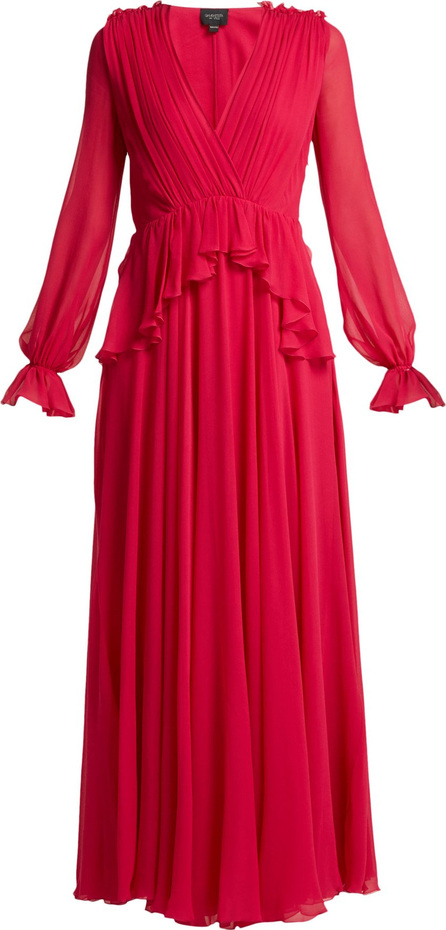 Giambattista Valli Gathered silk-chiffon gown