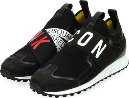 DSQUARED2 Men's Punk Icon Neoprene & Leather Trainer Sneakers