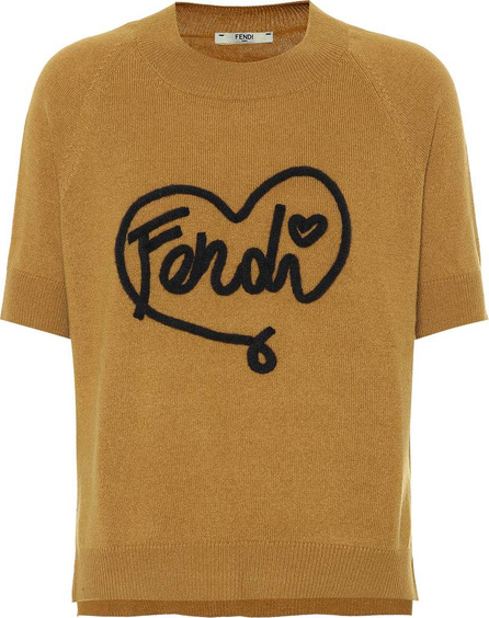 Fendi Fendi Heart cashmere-blend sweater