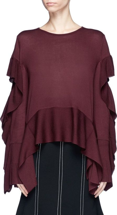 ADEAM Ruffle drape sweater