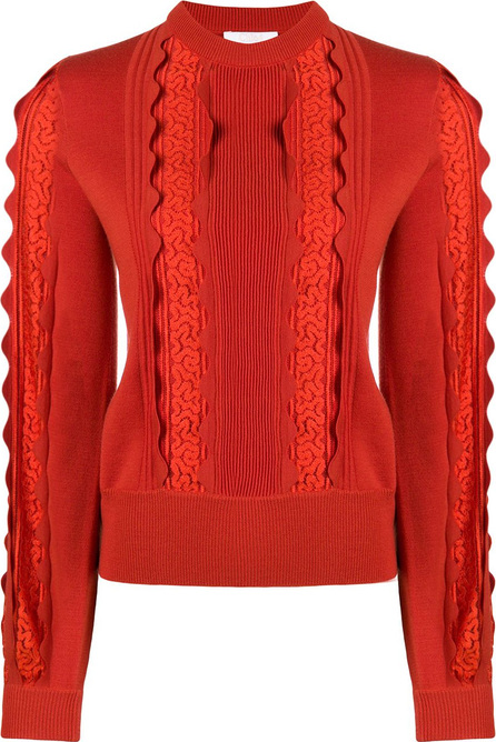 Chloe Lace panel sweater