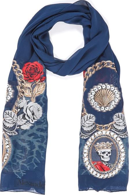 Alexander McQueen Lost At Sea silk blend scarf