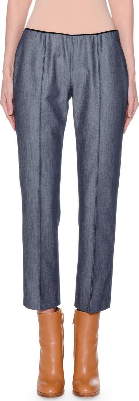 Agnona Slim-Leg Side-Zip Jeans