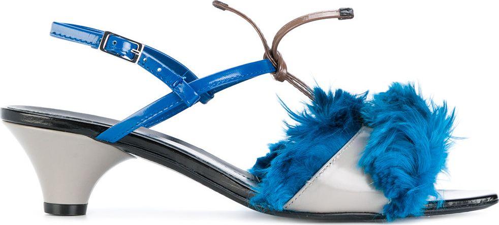 Marni - Llama fur trim sandals