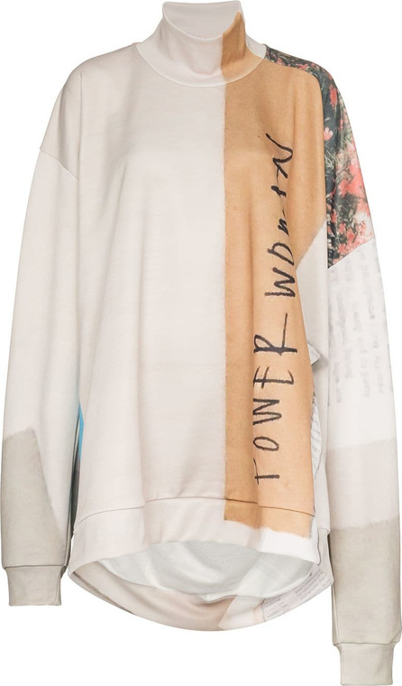 Marques'Almeida Printed oversized cotton-blend jumper
