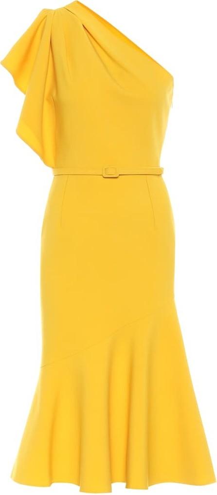Oscar De La Renta Wool-blend crêpe midi dress