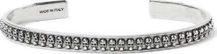 Alexander McQueen Skull Gunmetal-Tone Cuff