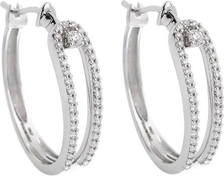 Istanboulli Gioielli Milano Anima 18k White Gold Looped Diamond Hoop Earrings