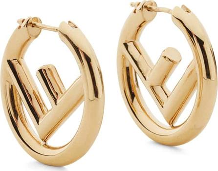 Fendi Logo Mini Hoop Earrings