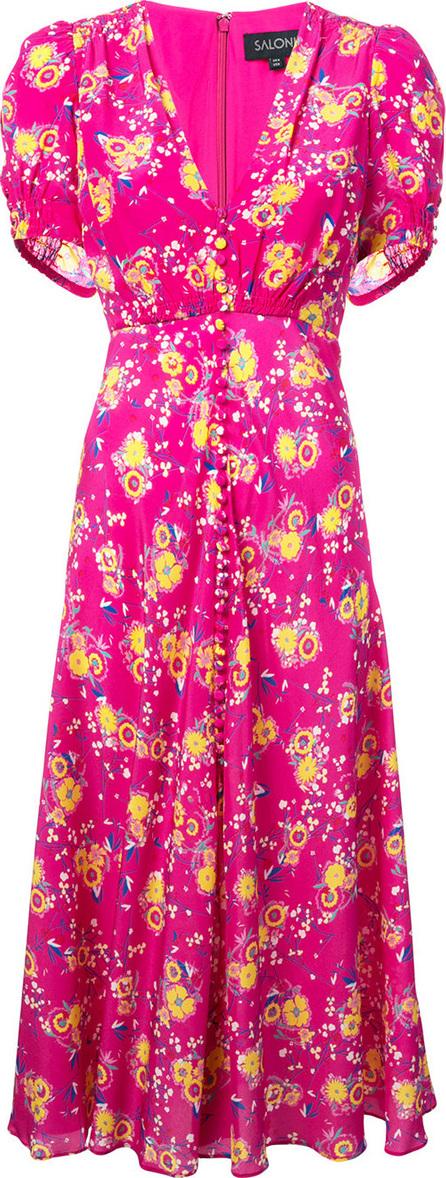 Saloni Lea floral midi dress
