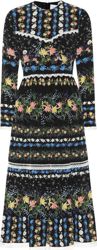 Erdem Georgie printed silk crêpe dress