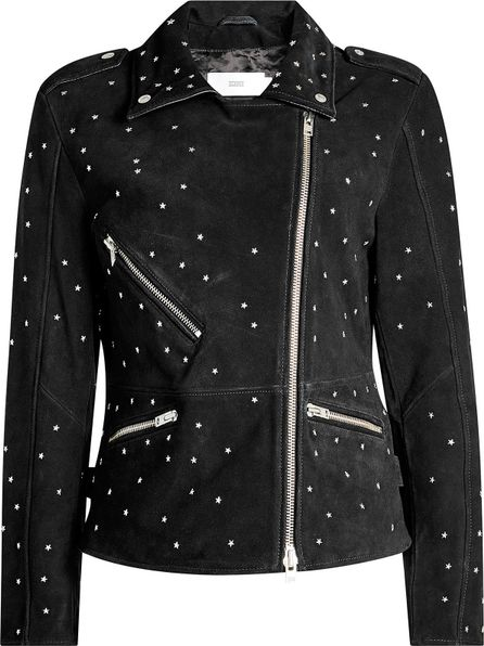 Closed Park Embroidered Suede Biker Jacket