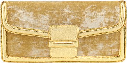 Dries Van Noten Velvet Envelope Clutch Bag