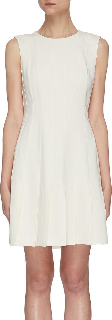 Theory Pintuck box pleat sleeveless dress