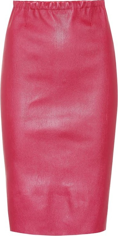 Stouls Gilda leather skirt