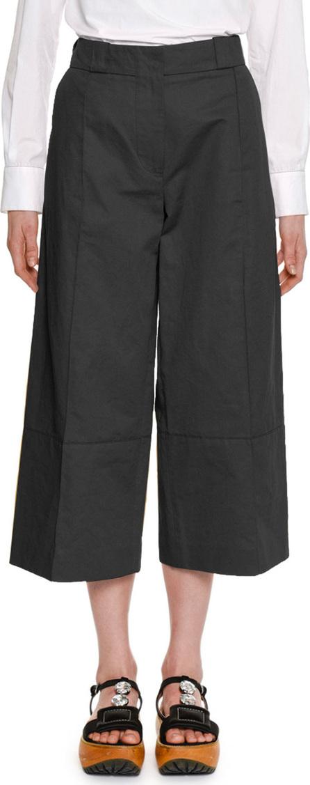 Marni Wide-Leg Cropped Cotton-Linen Pant