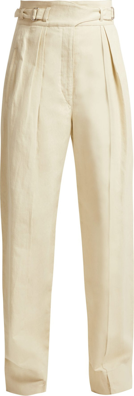 Lemaire Cotton and linen-blend cargo trousers