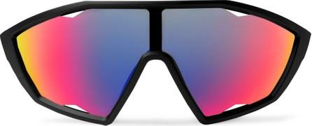 Prada Shield-Frame Rubber Sunglasses