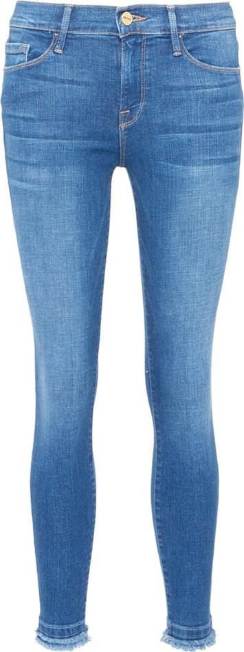 FRAME DENIM 'Le Skinny de Jeanne' raw cuff jeans