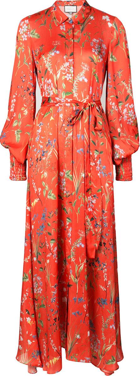 Alexis Floral print maxi tea dress