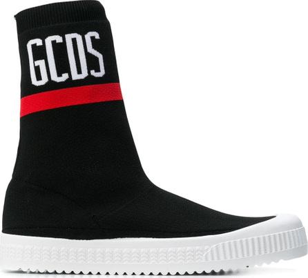 Gcds Logo hi-top sock sneakers