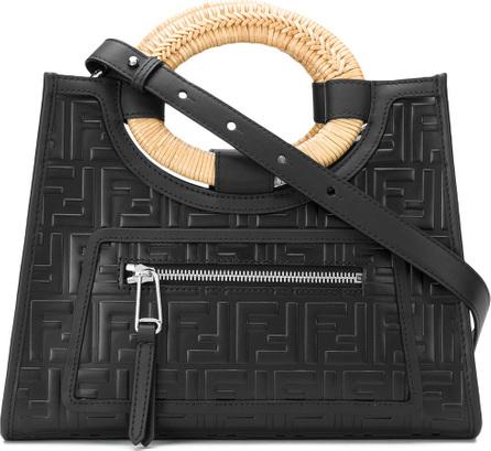 Fendi Embossed logo shoulder bag