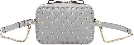 Valentino Rockstud Spike Quilted Leather Camera Crossbody Bag
