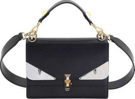 Fendi Kan I Monster Leather Shoulder Bag, Black