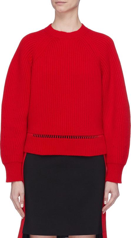 Alexander McQueen Drop stitch hem wool-cashmere sweater