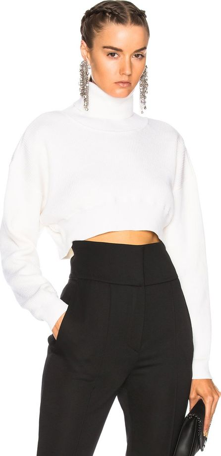 Alexandre Vauthier Rib Knit Cropped Sweater