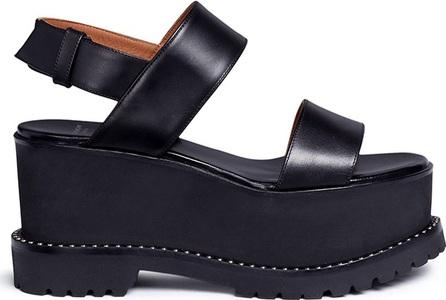 Givenchy 'Ursa' slingback leather platform sandals