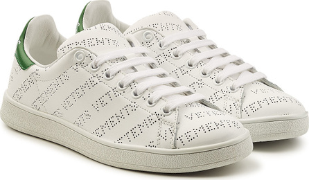 Vetements Perforated Logo Leather Sneakers