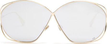Dior Stellaire2 oversized metal sunglasses