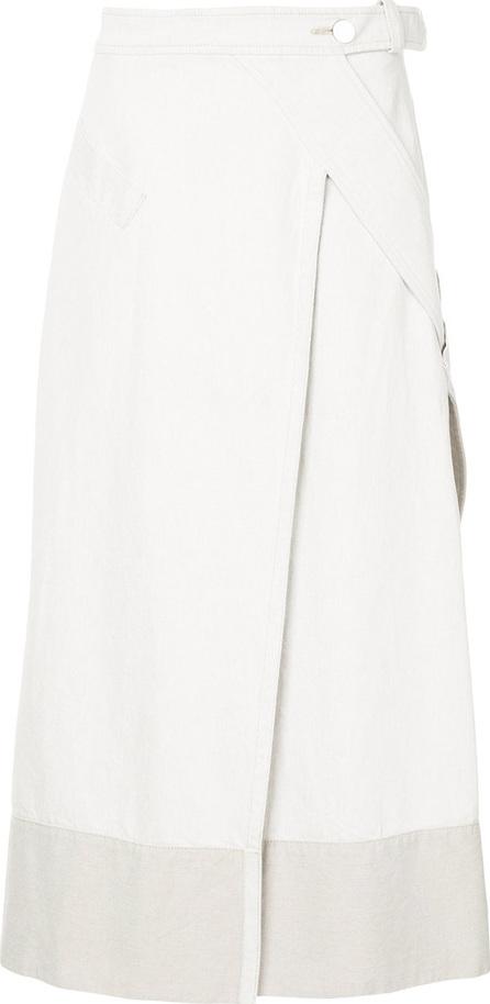 Christopher Esber Wrap front midi skirt