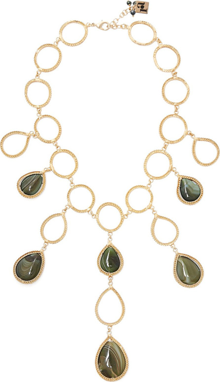 Rosantica Scarabeo teardrop stone necklace