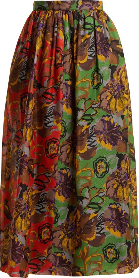 Duro Olowu Floral-print silk-gazar skirt