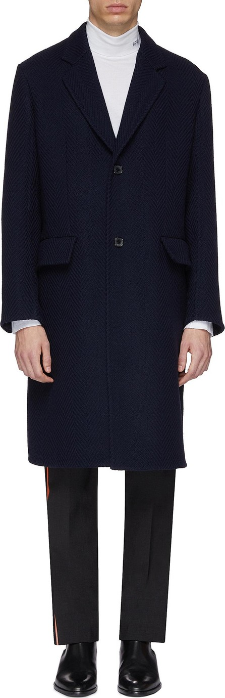 Calvin Klein 205W39NYC Wool herringbone coat