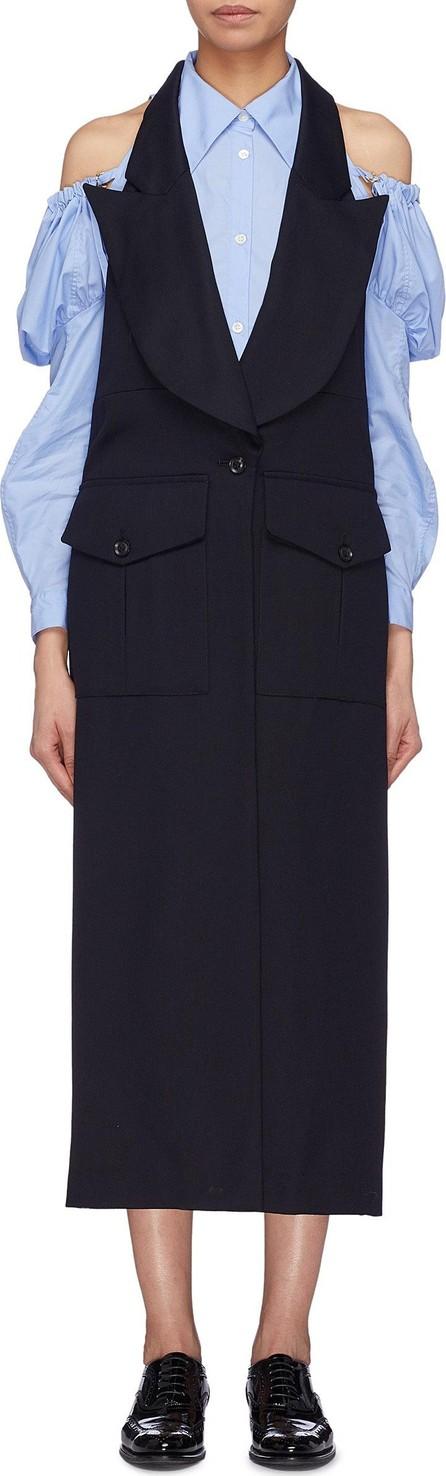Akiko Aoki Oversized peaked lapel open back apron gilet