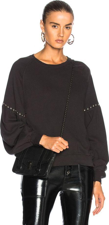 THE GREAT. Studded Bishop Sleeve Sweatshirt