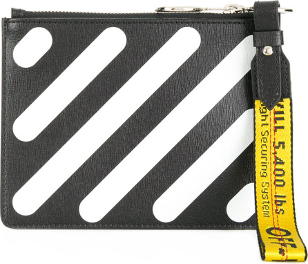 Off White Diagonals double pouch
