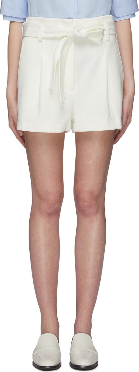 3.1 Phillip Lim Belted pleated twill shorts