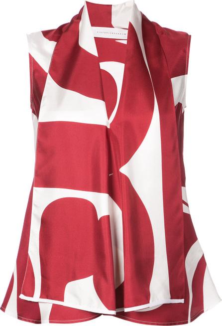 Victoria Beckham Draped geometric blouse