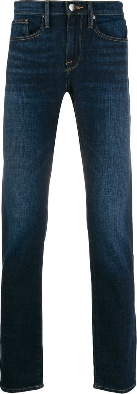 FRAME DENIM Stonewashed effect straight jeans