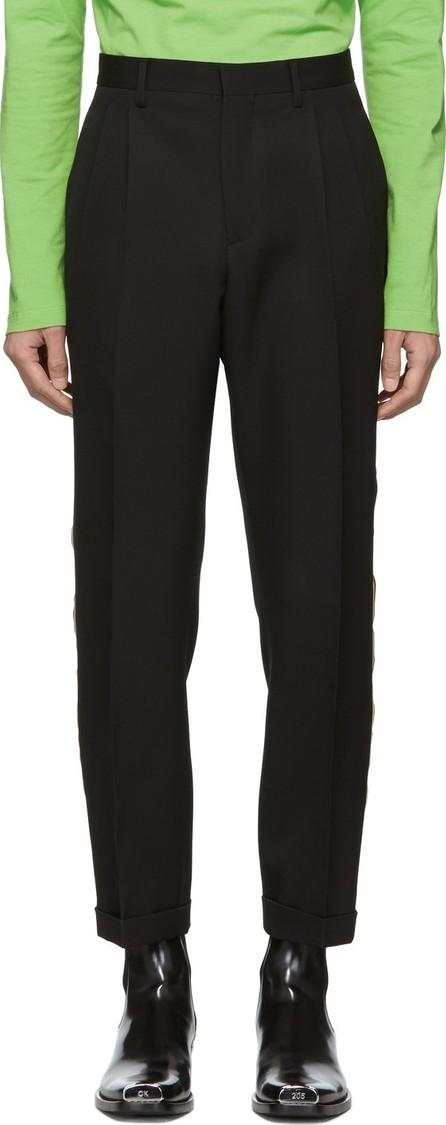 Calvin Klein 205W39NYC Black Stripe Classic Straight-Leg Uniform Trousers