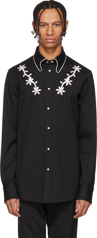 e6be19ec4b9 DSQUARED2 Black Wool Chic Western Shirt in Black - Mkt