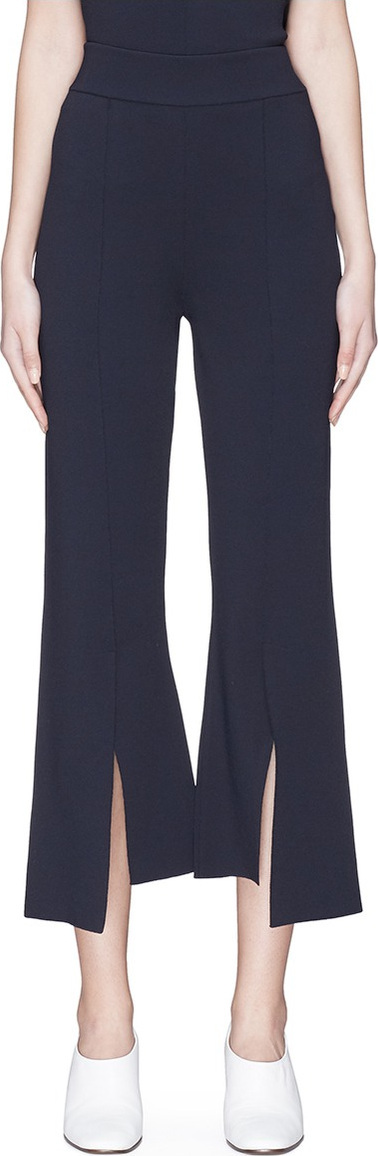 Stella McCartney Split staggered cuff cropped flared pants